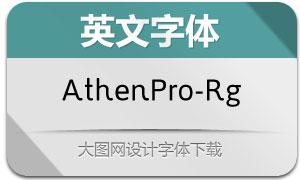 AthenPro-Regular(英文字体)