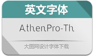 AthenPro-Thin(英文字体)