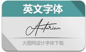 Auturium(英文字体)