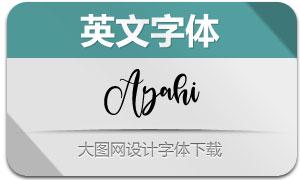 Ayahi(英文字体)