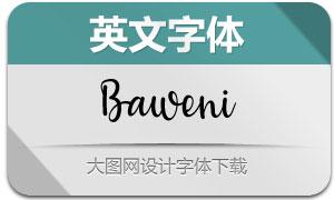 Baweni(英文字体)