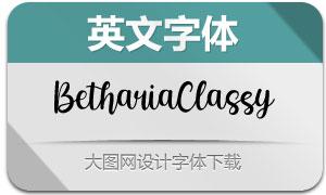 BethariaClassy(英文字体)
