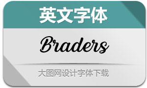Braders(英文字体)