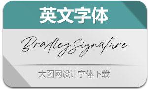BradleySignature(英文字体)