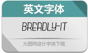 Breadly-Italic(英文字体)