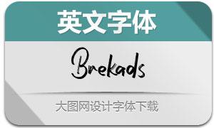 Brekads(英文字体)