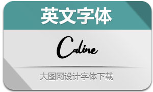 Caline(英文字体)