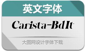 Carista-BoldItalic(英文字体)