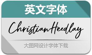 ChristianHeedlay(英文字体)