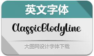 ClassicBlodyLine(英文字体)