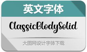 ClassicBlodySolid(英文字体)