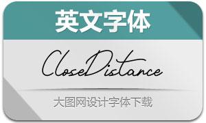 CloseDistance(英文字体)