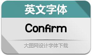 Confirm(英文字体)