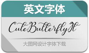 CuteButterfly-Italic(英文字体)