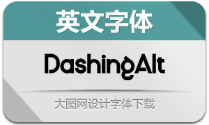 DashingAlternate(英文字体)