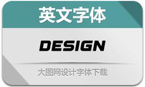Design(英文字体)