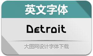 Detroit(英文字体)
