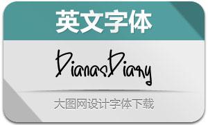 DianasDiary(英文字体)