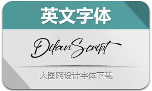DilanScript(英文字体)