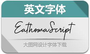 EathomaScript(英文字体)