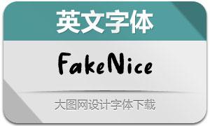FakeNice(英文字体)