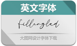 Fillerglad(英文字体)
