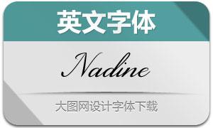 Nadine(英文字体)