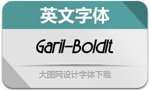 Garil-BoldItalic(英文字体)