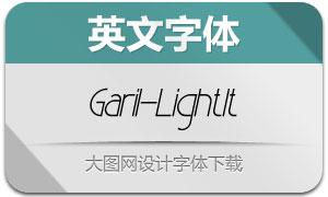 Garil-LightItalic(英文字体)