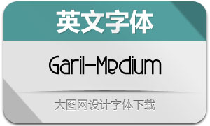 Garil-Medium(英文字体)