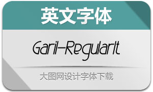 Garil-RegularItalic(英文字体)