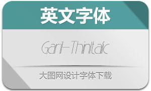 Garil-ThinItalic(英文字体)