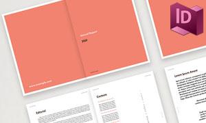 极简配色年度总结报告画册模板素材