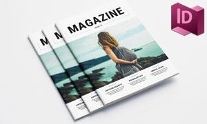 多用途杂志画册封面内页等版式模板