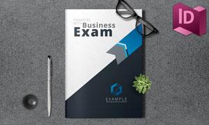 蓝色商务创意折页画册设计模板素材