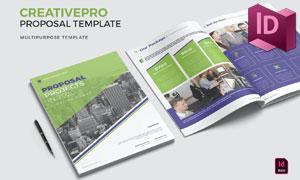 项目提案画册封面内页版式设计模板
