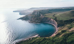 海边美丽风光航拍图摄影图片