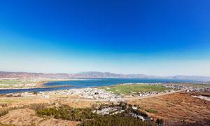云南洱海美丽风光全景摄影图片