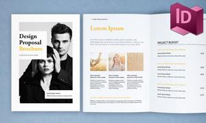 商务项目提案画册版式设计模板素材