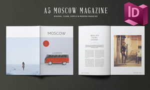 A5尺寸杂志画册排版设计模板集V02