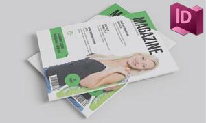 A5尺寸杂志画册排版设计模板集V04