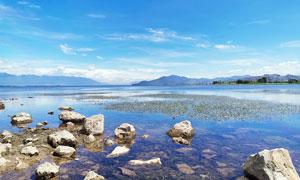 大理洱海边美丽风光摄影图片