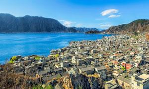 大理洱海边的双廊镇景观摄影图片