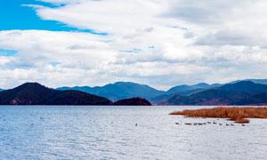 泸沽湖山水美景高清摄影图片