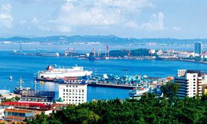 海边城市威海景观摄影图片