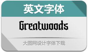 Greatwoods(英文字体)