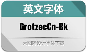 GrotzecCond-Black(英文字体)
