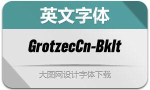 GrotzecCond-BlackItalic(英文字体)