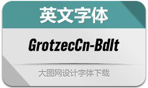 GrotzecCond-BoldItalic(英文字体)
