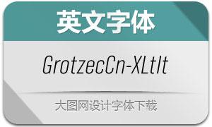 GrotzecCond-ExtralightIt(英文字体)